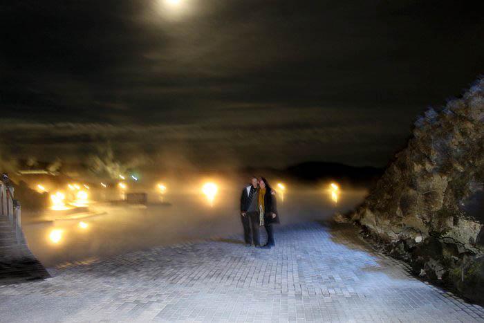 Anna & ik,Blue Lagoon, Zuidelijk schiereiland, IJsland (2010)