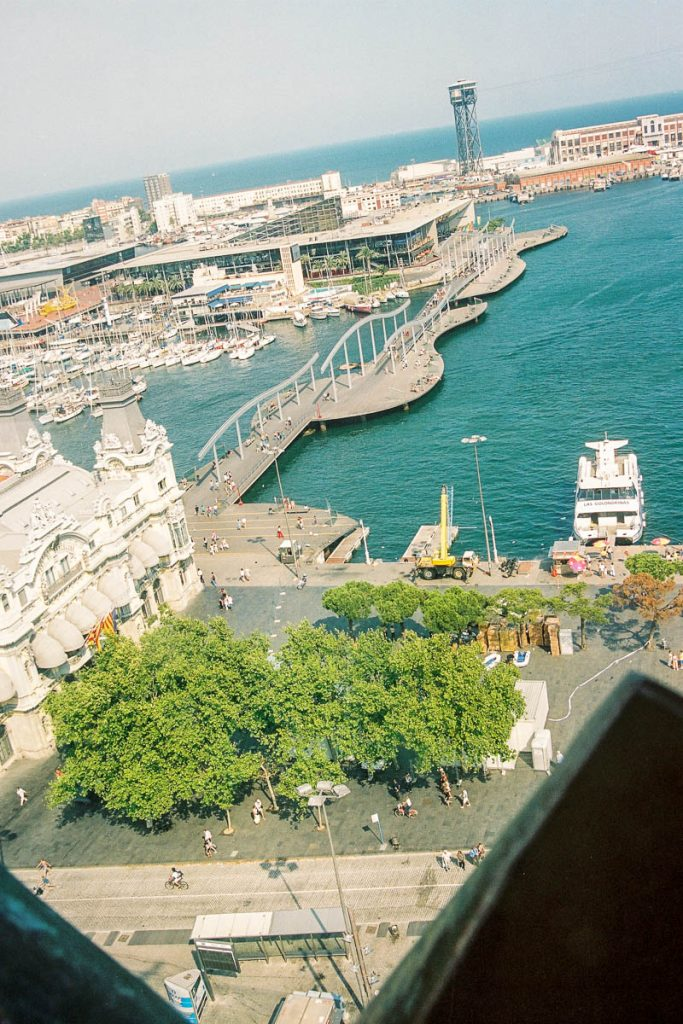 Port Vell,Colombus Monument, Barcelona, Catalonië, Spanje (2003)