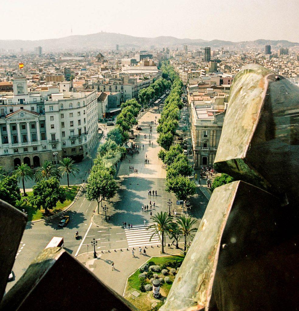 Las Ramblas,Colombus Monument, Barcelona, Catalonië, Spanje (2003)