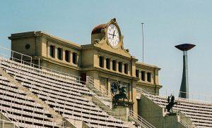 Olympische klok & fakkel