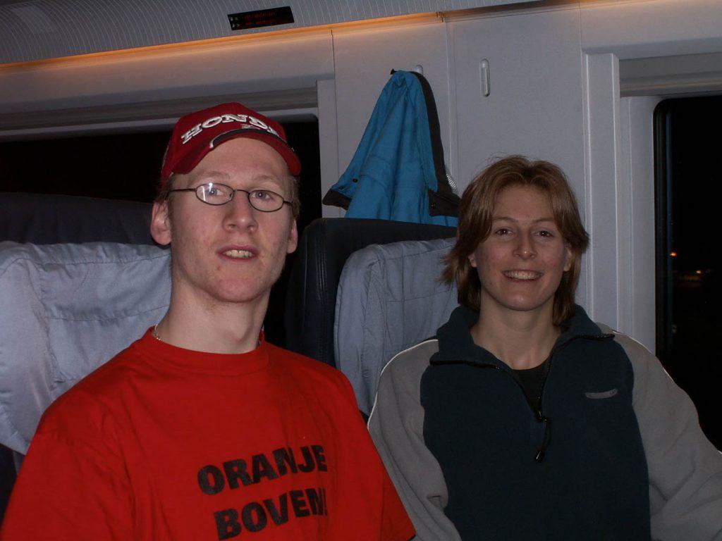 Johan en ik,In de trein (2005)