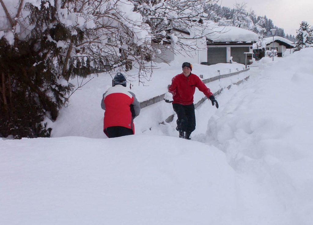 Sneeuwgevecht,Fieberbrunn, Tirol, Oostenrijk (2005)