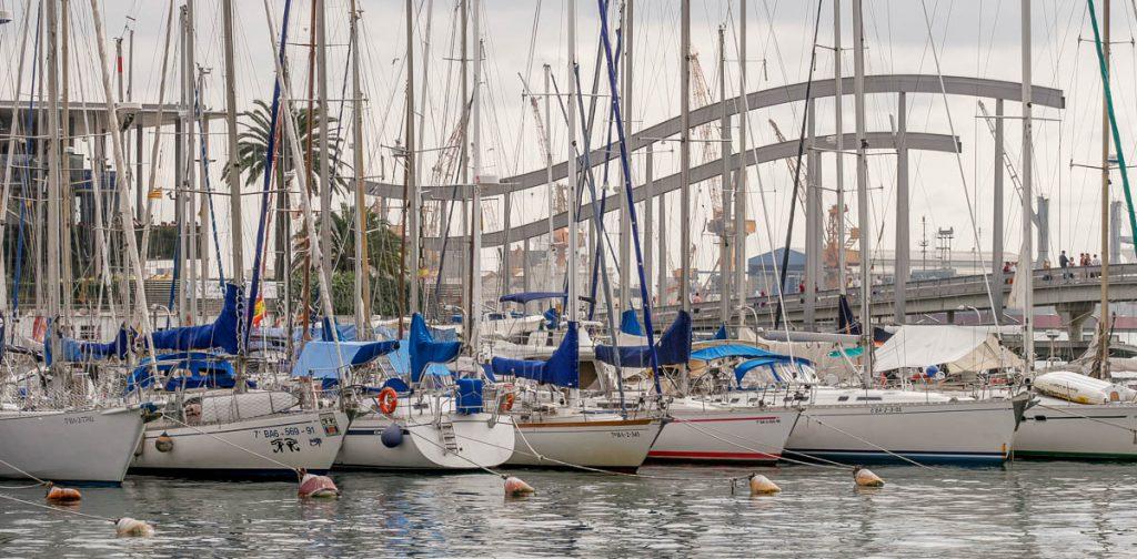 Jachthaven,Port Vell, Barcelona, Catalonië, Spanje (2005)
