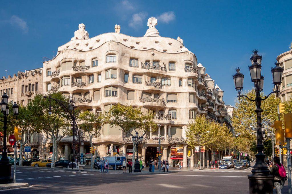 Casa Milà,Passeig de Gràcia, Barcelona, Catalonië, Spanje (2005)