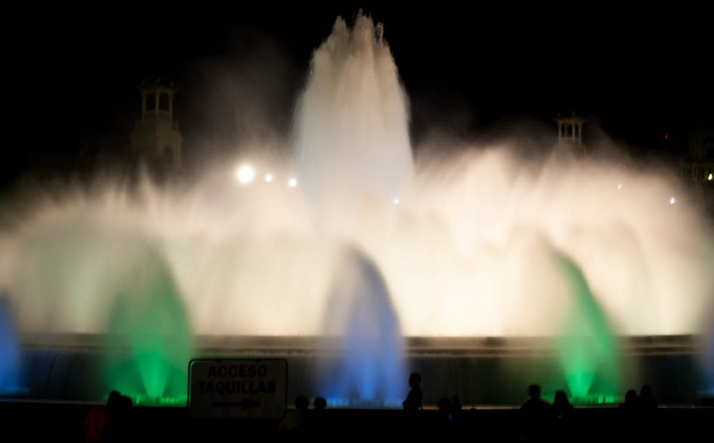 Magische fontein,Font Màgica, Barcelona, Catalonië, Spanje (2005)