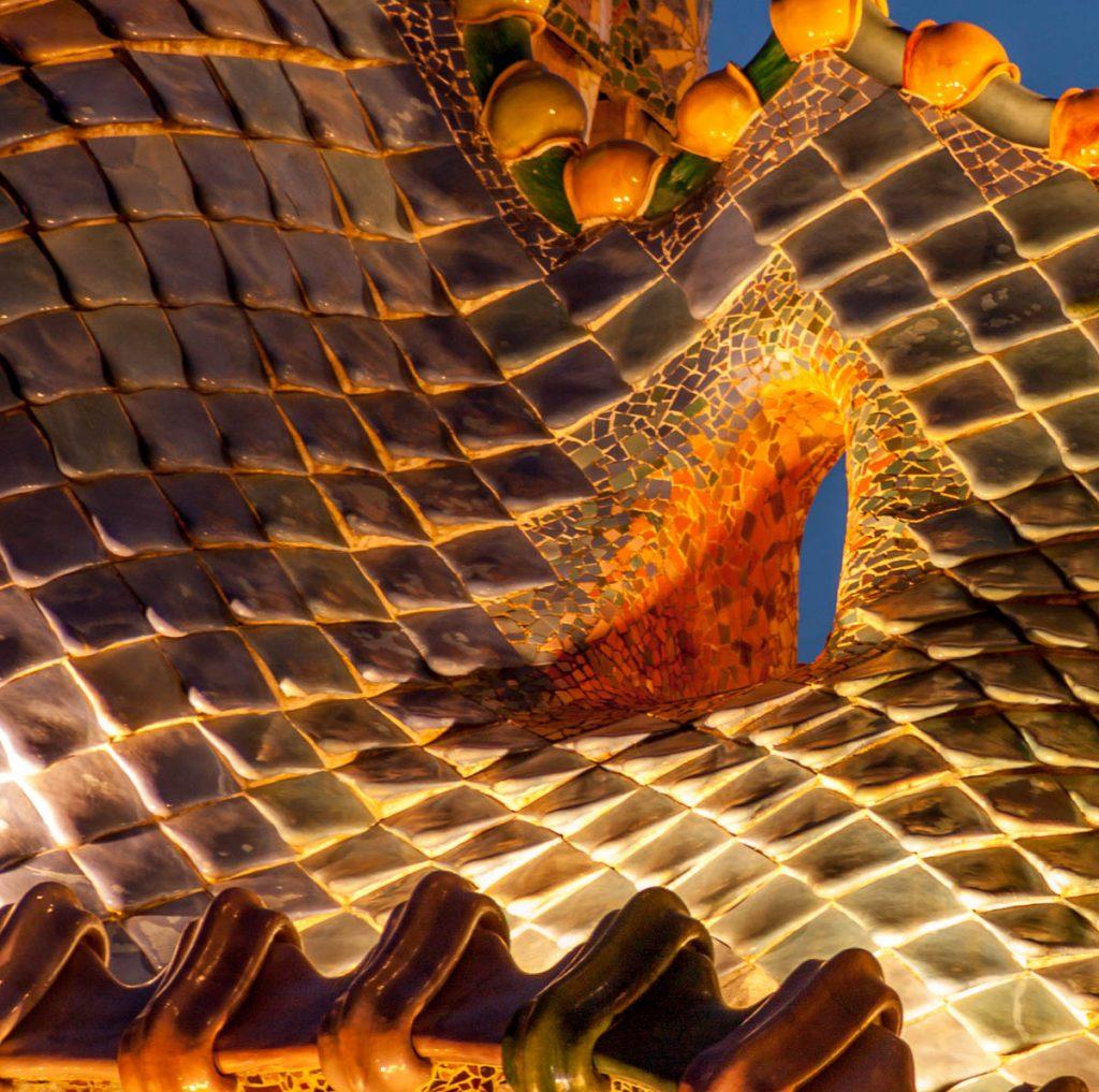 Het dak,Casa Batlló, Barcelona, Catalonië, Spanje (2005)