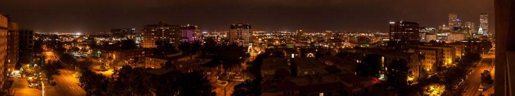 Denver bij nacht,Denver, Colorado, Verenigde Staten (2006)