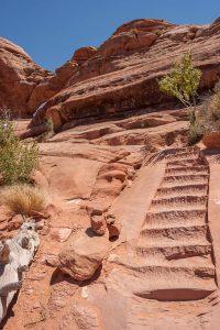 Uitgehakte trap