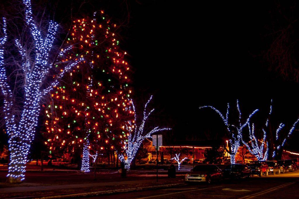 Kerst verlichting,Flagstaff, Arizona, United States (2007)