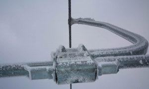 Vastgevroten sneeuw