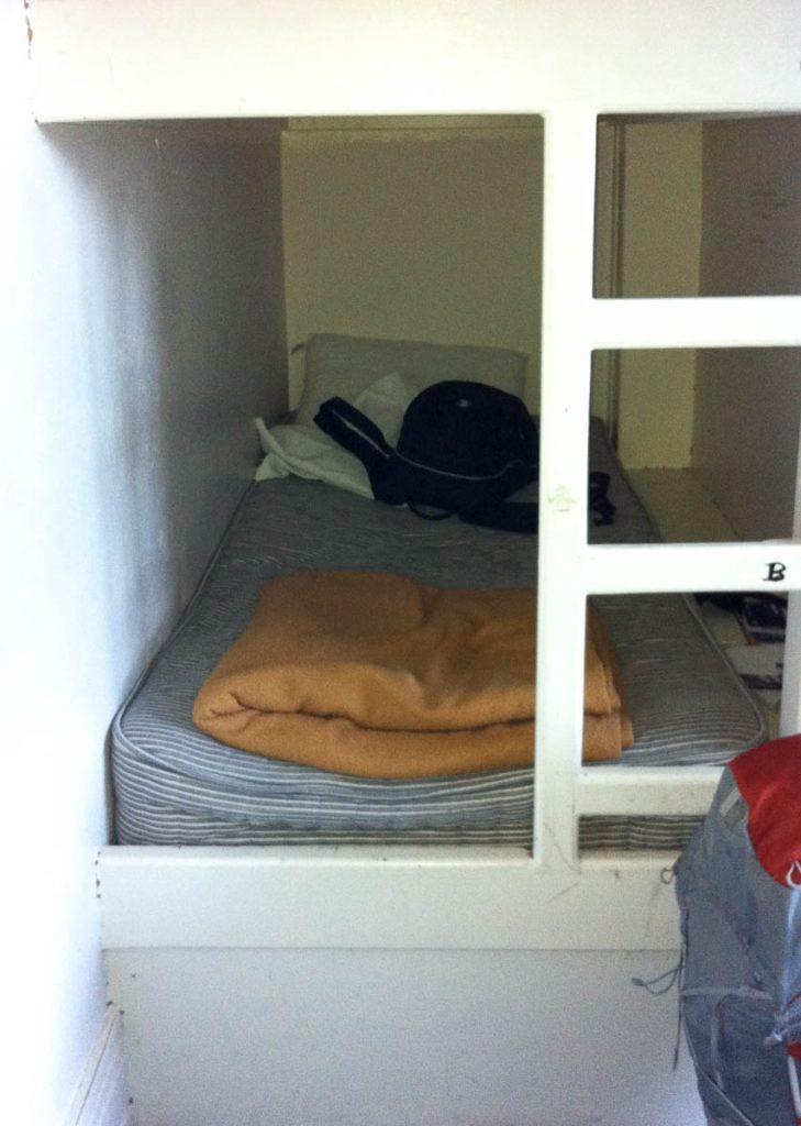 Mijn bed voor deze week,Piccadilly Backpackers Hostel, Londen, Engeland, Verenigd Koninkrijk (2010)