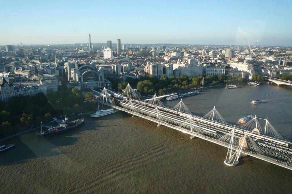 Uitzicht vanuit de London Eye,London Eye, Londen, Engeland, Verenigd Koninkrijk (2010)
