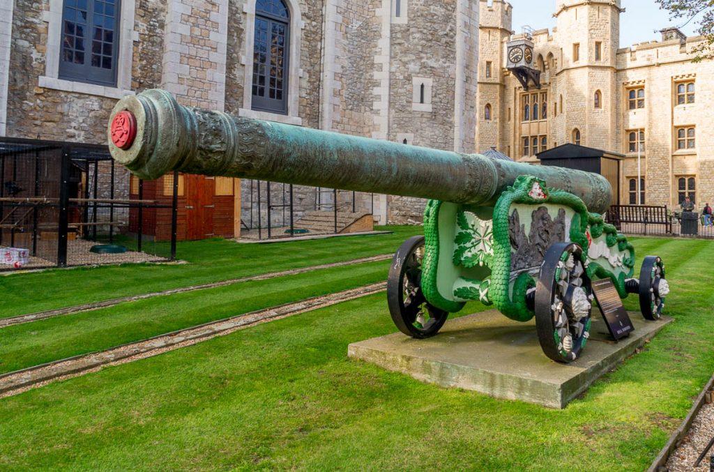 Kanon,Tower of London, Londen, Engeland, Verenigd Koninkrijk (2010)