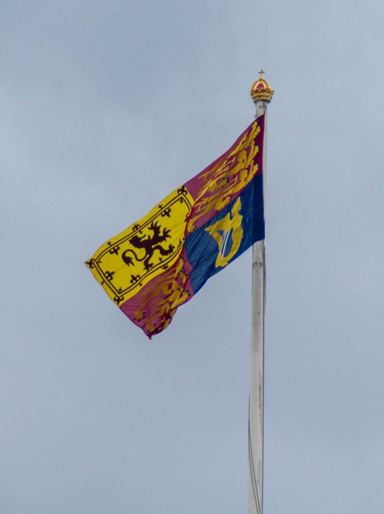 Vlag,Buckingham Palace, Londen, Engeland, Verenigd Koninkrijk (2010)
