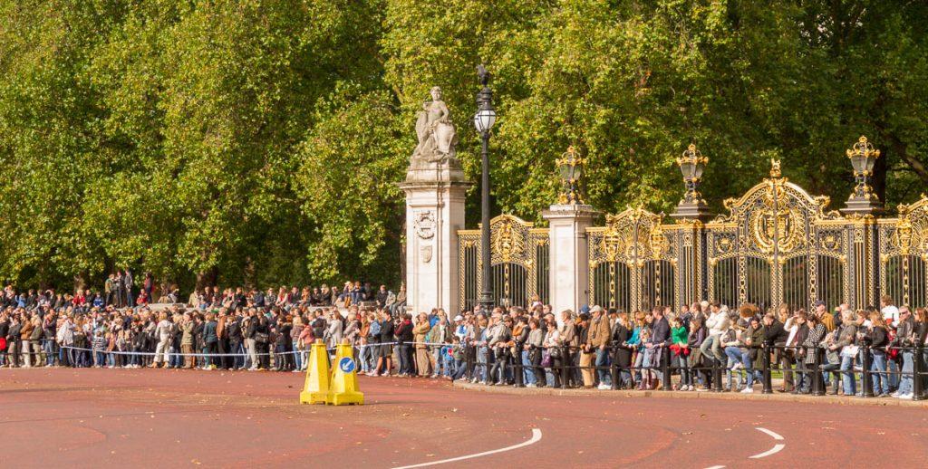Beetje druk,Buckingham Palace, Londen, Engeland, Verenigd Koninkrijk (2010)