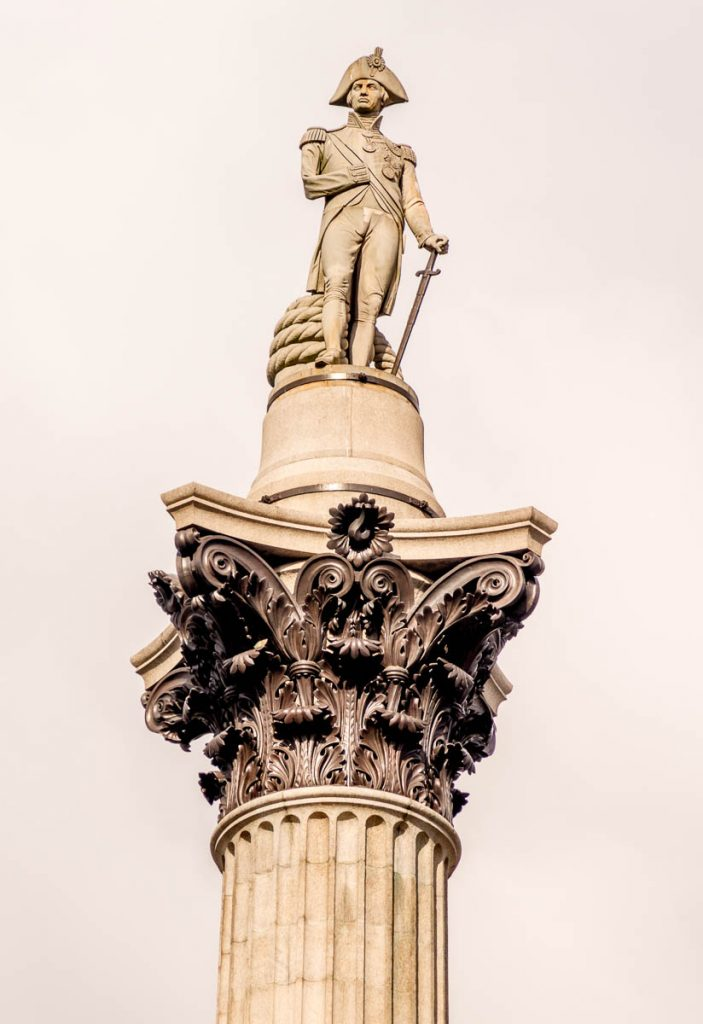 Admiral Nelson,Trafalgar Square, Londen, Engeland, Verenigd Koninkrijk (2010)