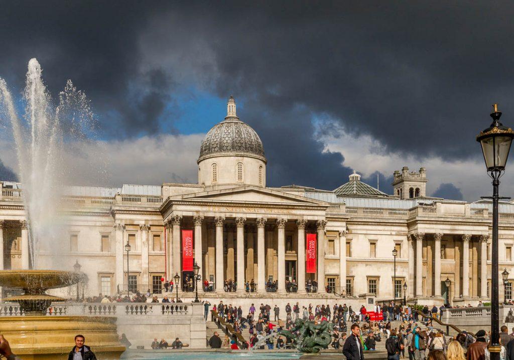 National Gallery,Trafalgar Square, Londen, Engeland, Verenigd Koninkrijk (2010)