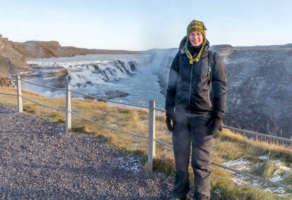 Best wel koud...,Gullfoss, Zuid IJsland, IJsland (2010)