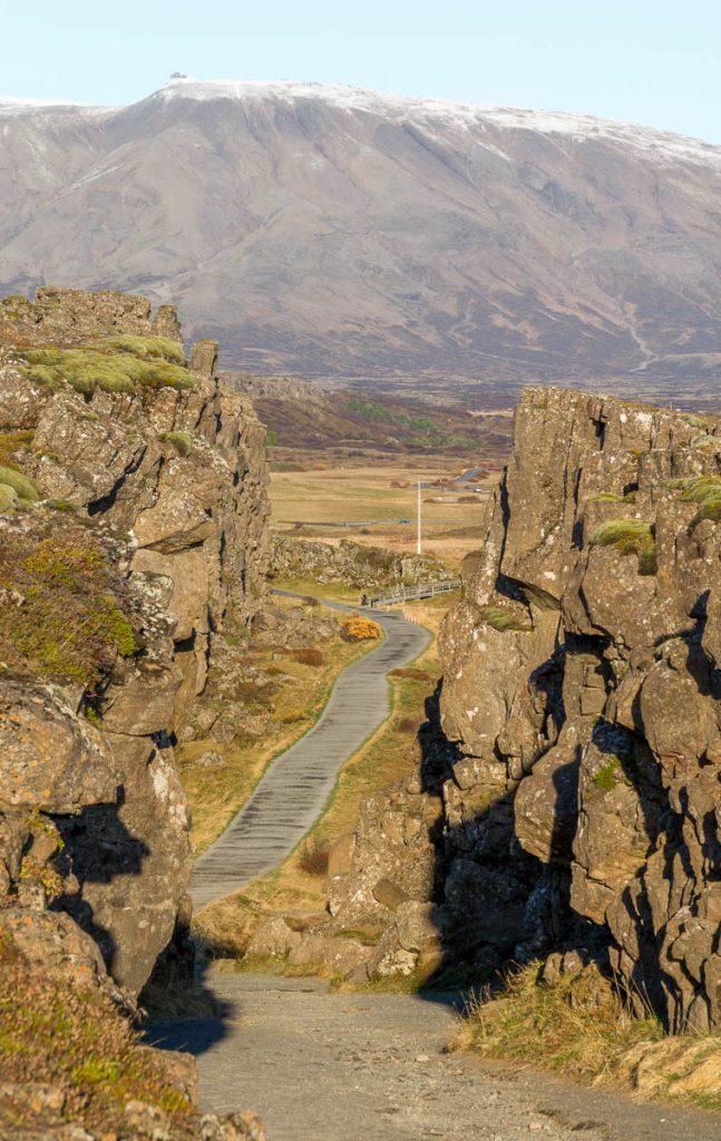 Tectonische Platen,Þingvellir National Park, Zuid IJsland, IJsland (2010)