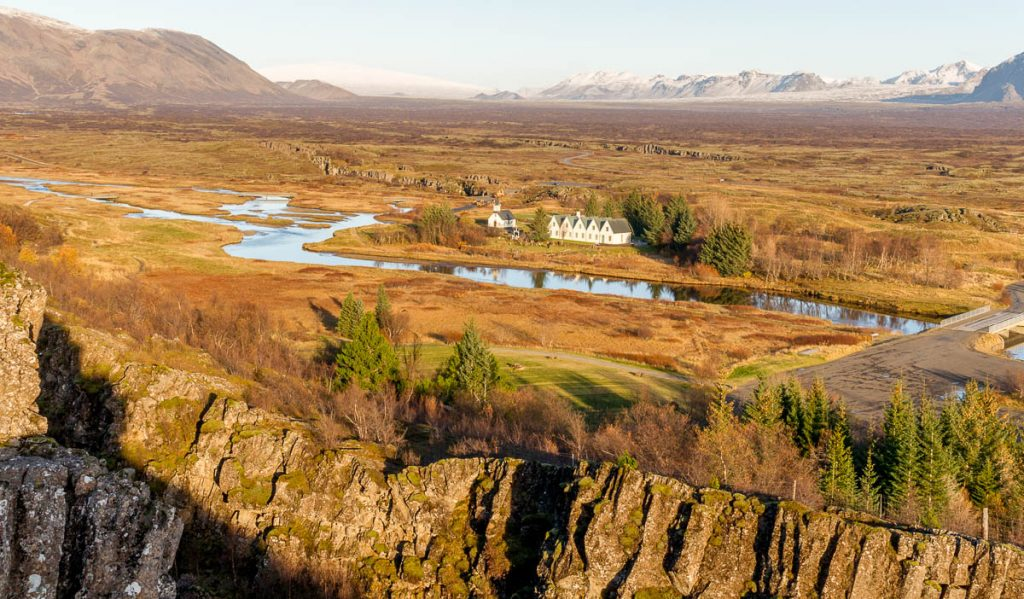 Uitzicht,Þingvellir National Park, Zuid IJsland, IJsland (2010)