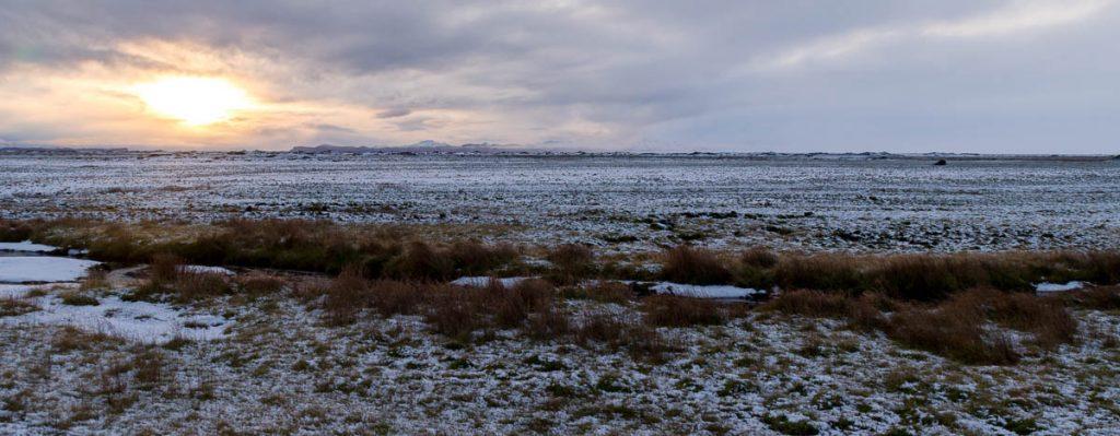 Zonsondergang,Hringvegur, Zuid IJsland, IJsland (2010)