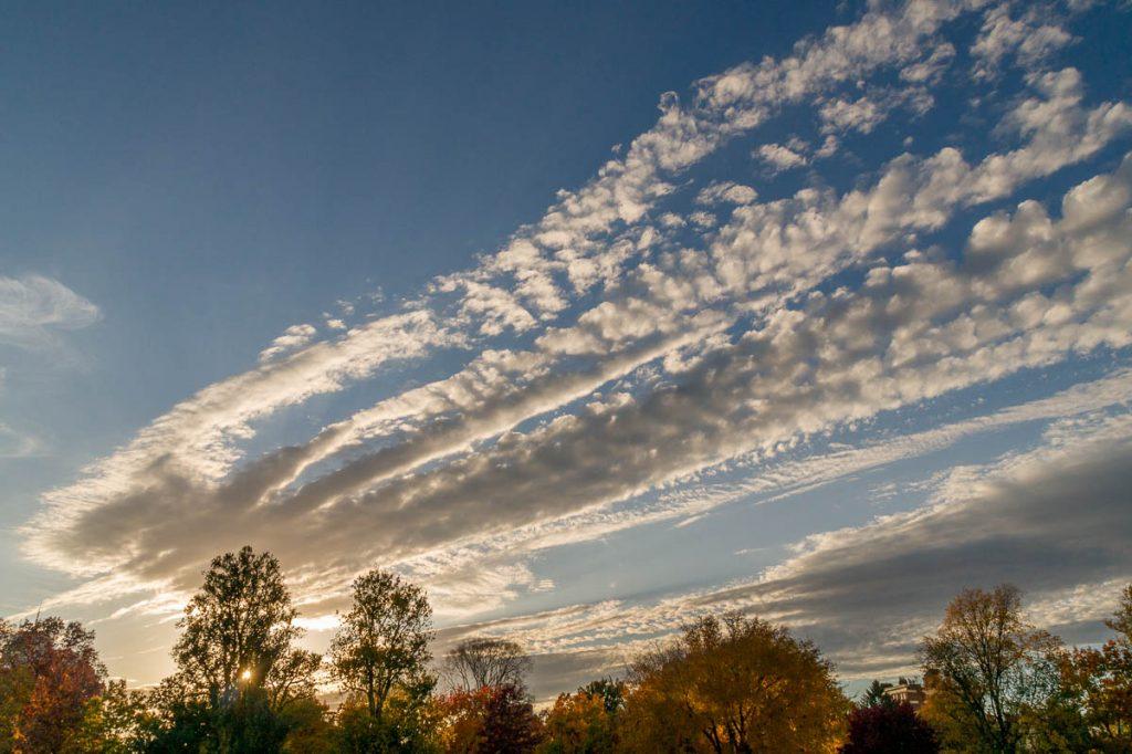Wolken,Boston Common, Boston, Massachussetts, Verenigde Staten (2010)