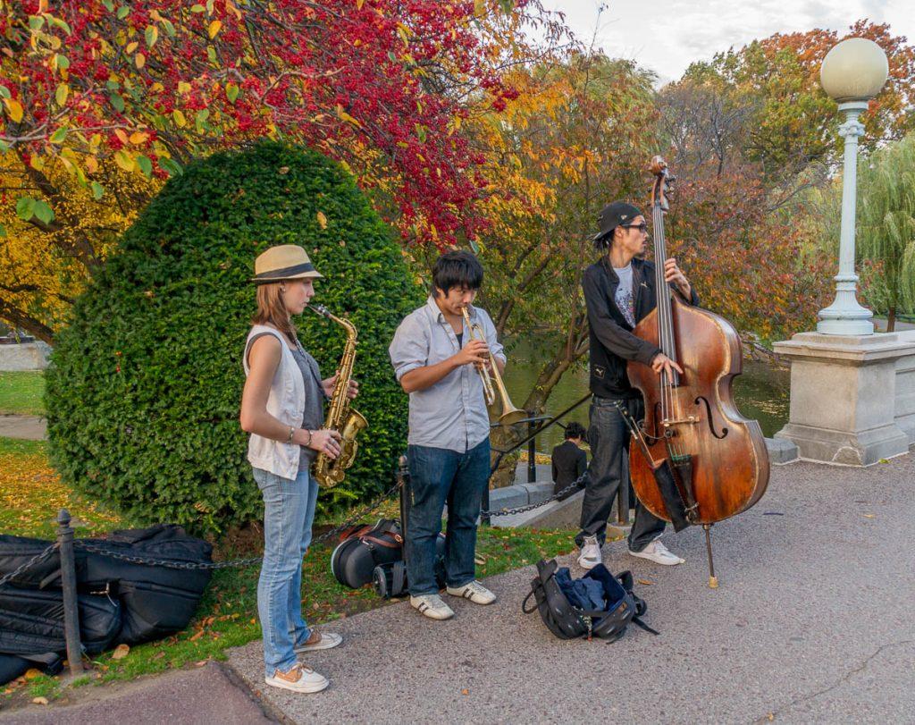 Straat muzikanten,Boston Public Garden, Boston, Massachussetts, Verenigde Staten (2010)