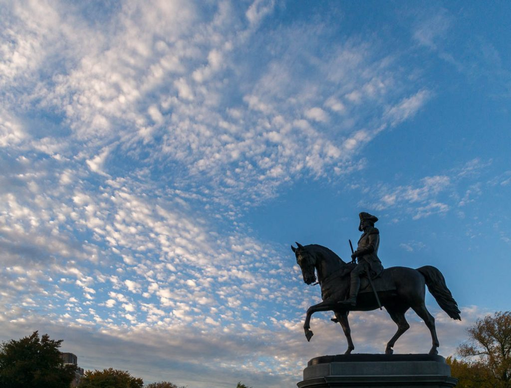 George Washington,Boston Public Garden, Boston, Massachussetts, Verenigde Staten (2010)