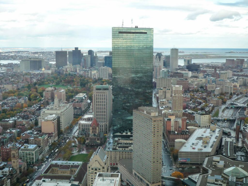 John Hancock Tower,Prudential Tower, Boston, Massachussetts, Verenigde Staten (2010)
