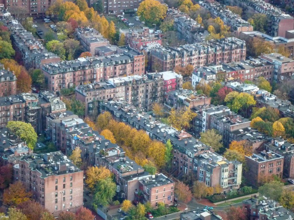 Victoriaanse huizen,Prudential Tower, Boston, Massachussetts, Verenigde Staten (2010)