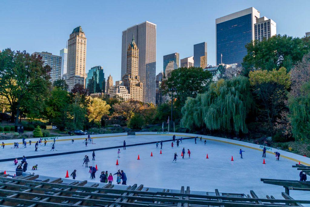 Schaatsbaan,Central Park, New York, New York, Verenigde Staten (2010)