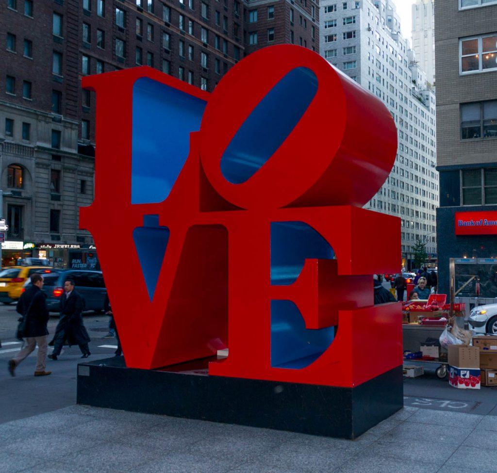 Love,6th Avenue, New York, New York, Verenigde Staten (2010)