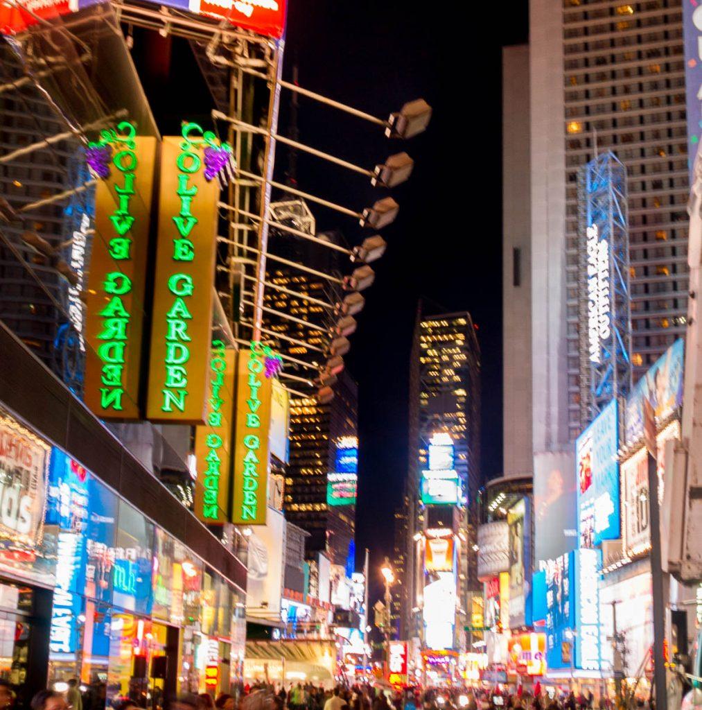 Fel verlicht,Times Square, New York, New York, Verenigde Staten (2010)