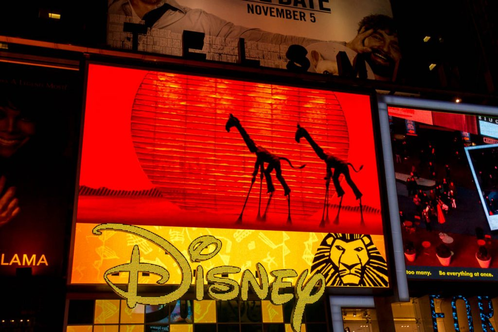 The Lion King,Times Square, New York, New York, Verenigde Staten (2010)