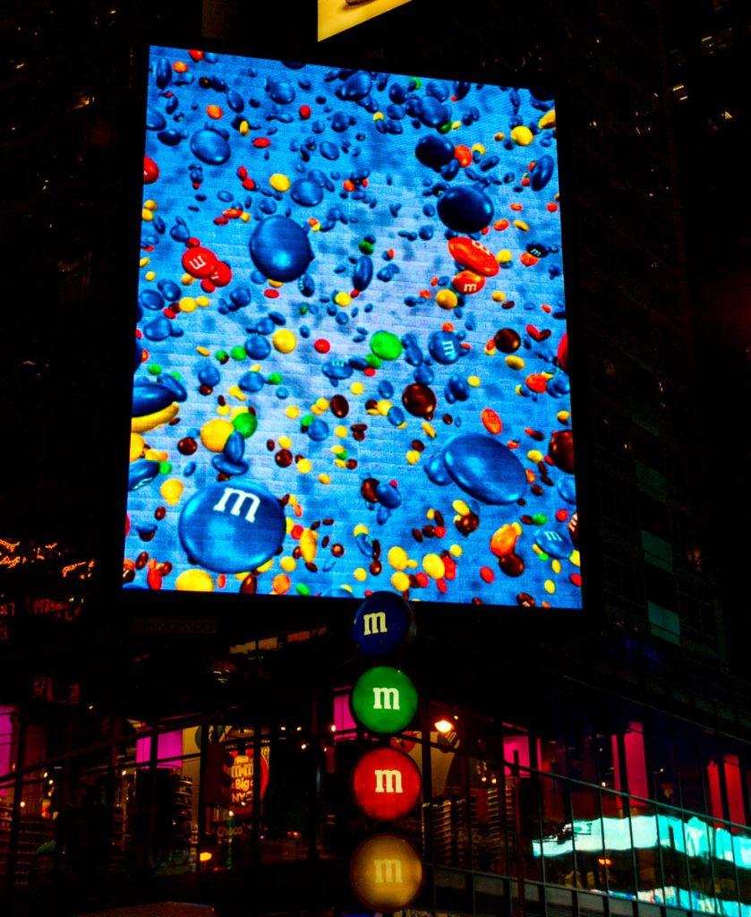 M&M's... lekker!,Times Square, New York, New York, Verenigde Staten (2010)