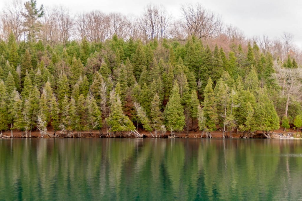 Green Lake,Green Lakes State park, New York, Verenigde Staten (2010)