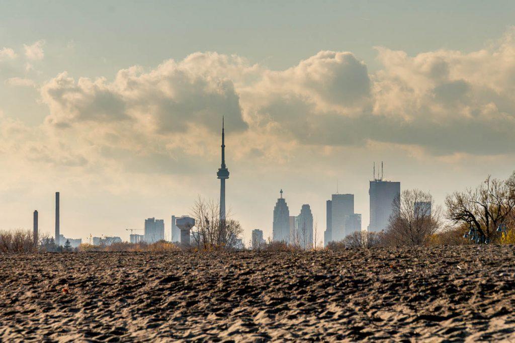Toronto Skyline,Beaches Park, Toronto, Ontario, Canada (2010)