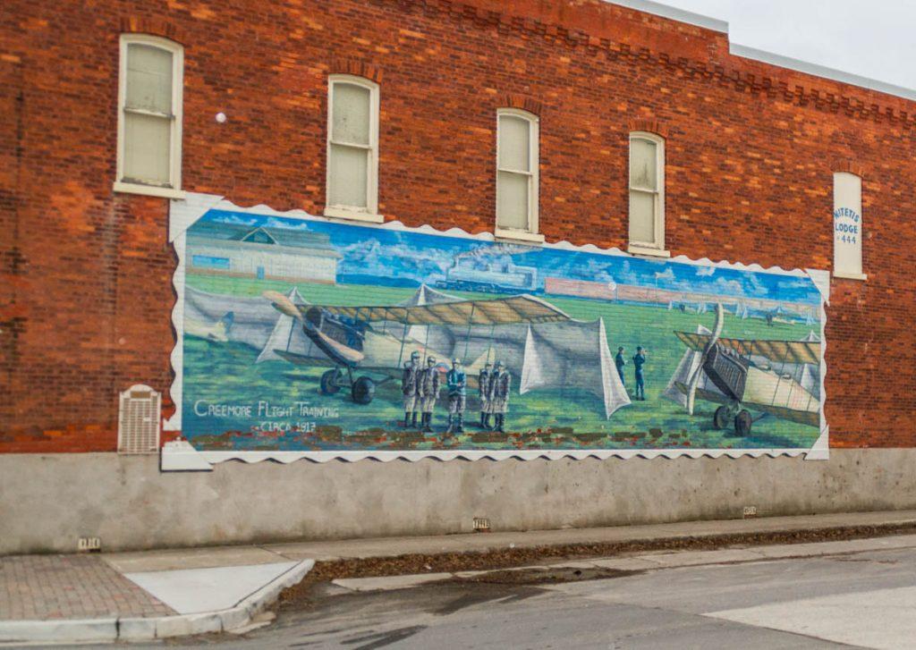 Muurschildering,Mill Street, Creemore, Ontario, Canada (2010)