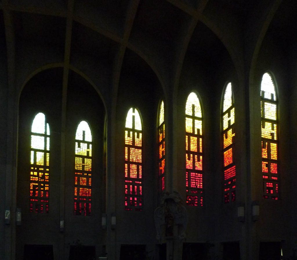 Glas in lood,Westminster Abbey, Mission, British Columbia, Canada (2010)