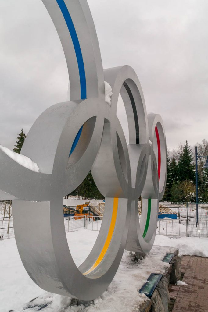 Olympische ringen,Whistler, British Columbia, Canada (2010)