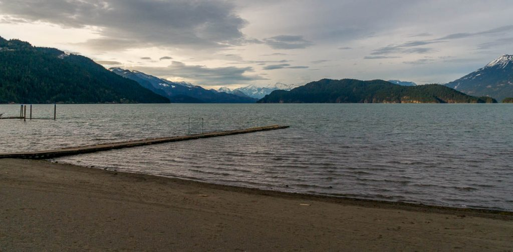 Harrison Lake & Echo Island,Harrison Hot Springs, British Columbia, Canada (2010)