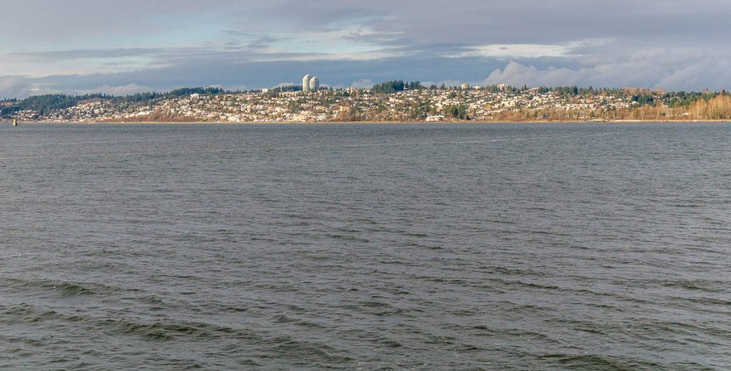 White Rock seen from the United States,2010
