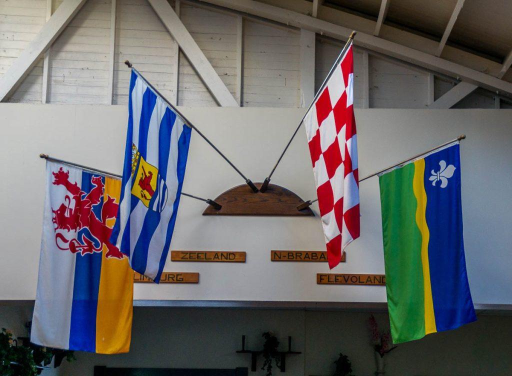 Vlag van Limburg, Zeeland, Noord-Brabant en Flevoland,Dutch Village, Lynden, Washington, Verenigde Staten (2010)
