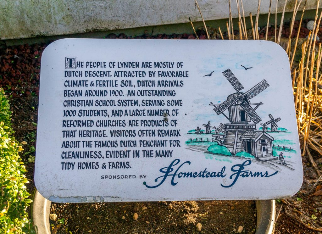 Beknopte geschiedenis,Dutch Village, Lynden, Washington, Verenigde Staten (2010)