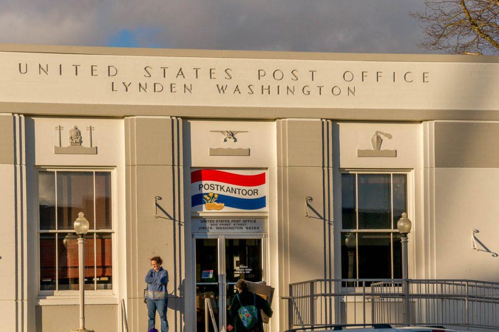 Postkantoor,Dutch Village, Lynden, Washington, Verenigde Staten (2010)