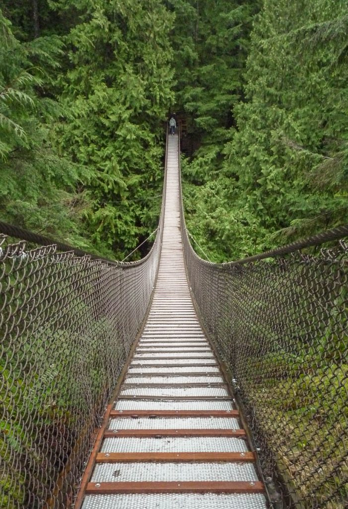 Lynn Canyon Suspension Bridge,Lynn Creek Valley, Vancouver, British Columbia, Canada (2010)