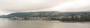 Vancouver onder een dikke laag wolken