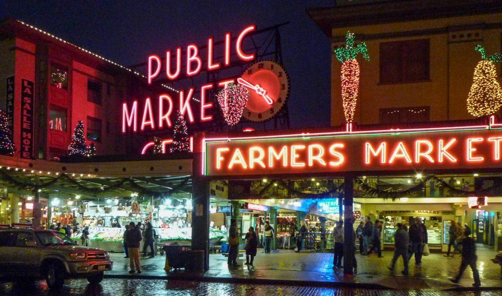 Ziet er wel gezellig uit,Pike Place Market, Seattle, Washington, Verenigde Staten (2010)