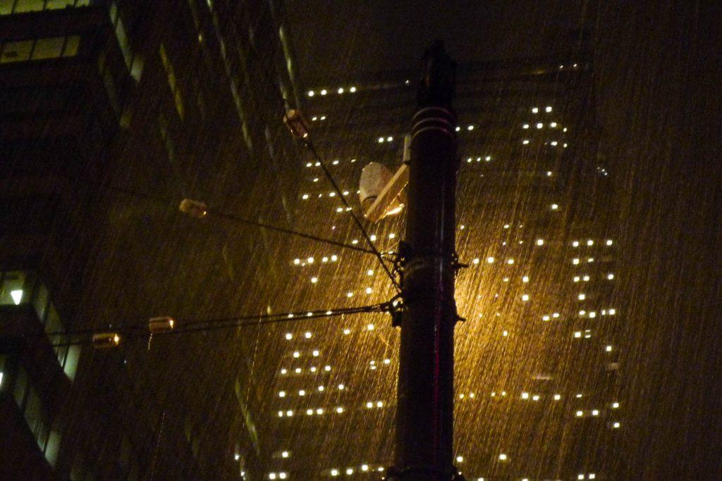 Stromende regen,Seattle, Washington, Verenigde Staten (2010)