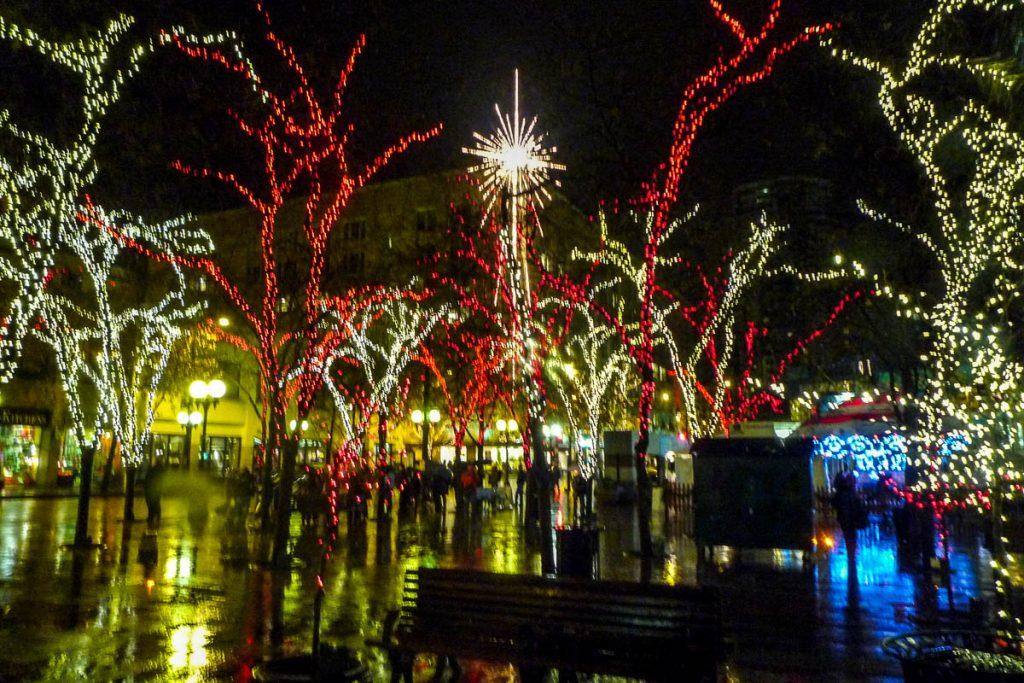 Kerstsfeer,Seattle, Washington, Verenigde Staten (2010)